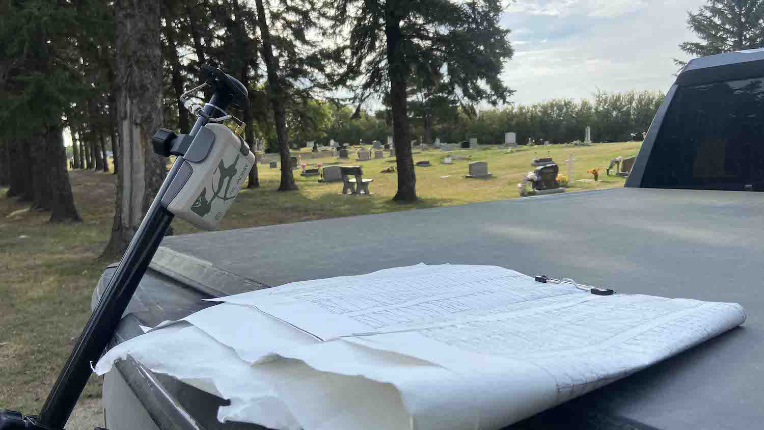 Altheritage uses an Arrow 100 GNSS receiver to map graveyard plots