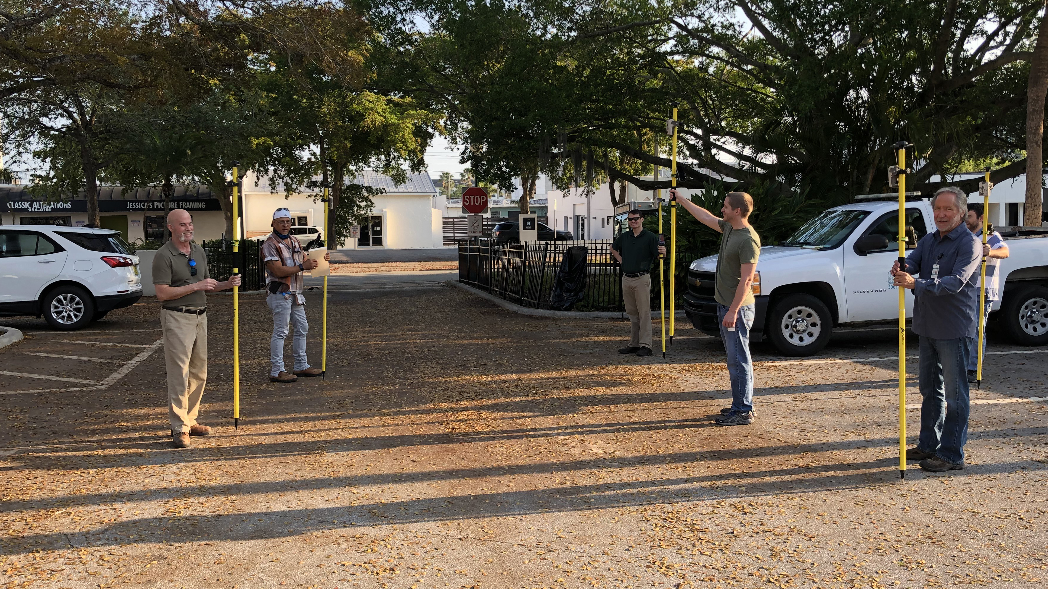 City of Sarasota non-GIS staff get trained in collecting high-accuracy data using Arrow 100 GNSS receivers and ArcGIS Collector during the COVID-19 pandemic