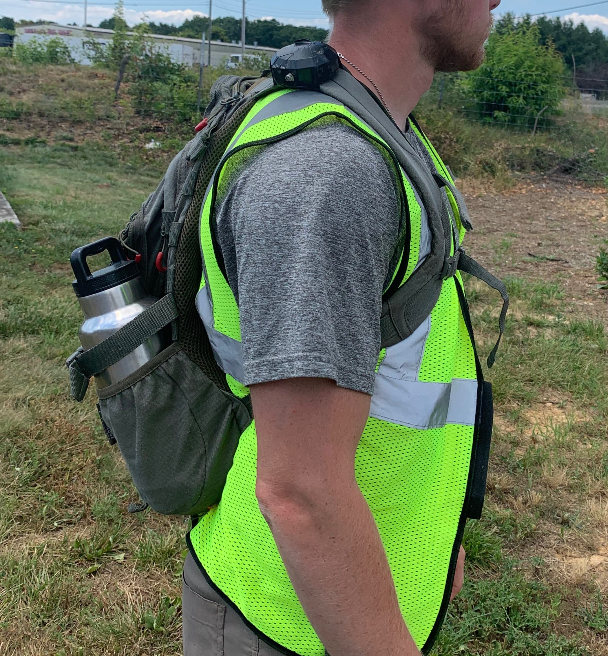 ESI shows how they use Arrow GNSS receiver mounted to a backpack, for wetland delineations mapping projects