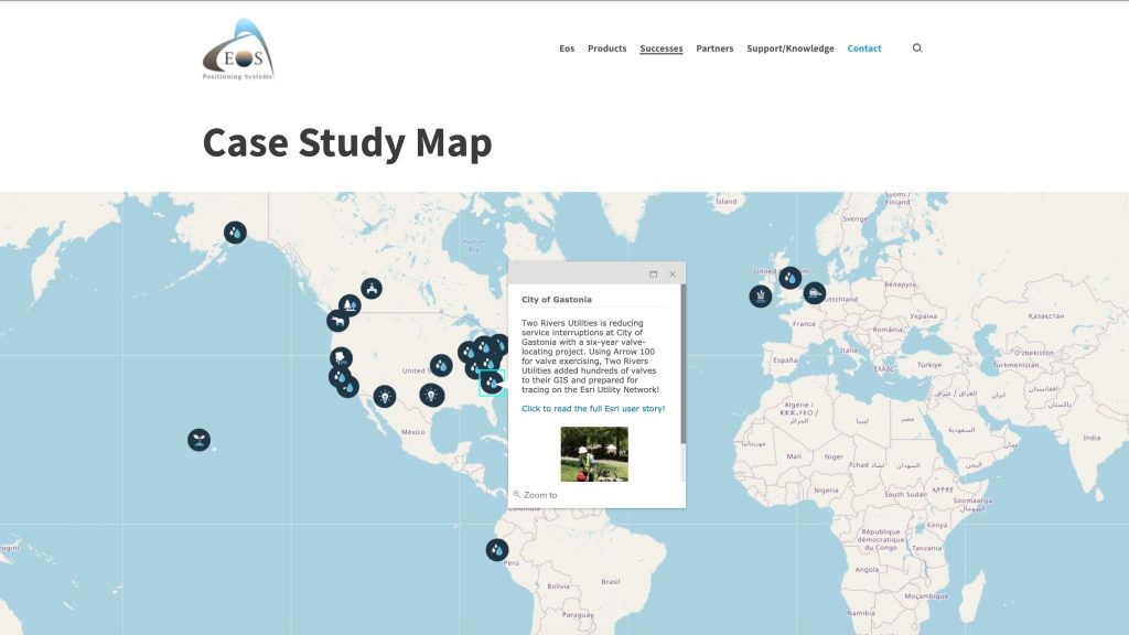 Eos Positioning Systems case study map ArcGIS Online web map