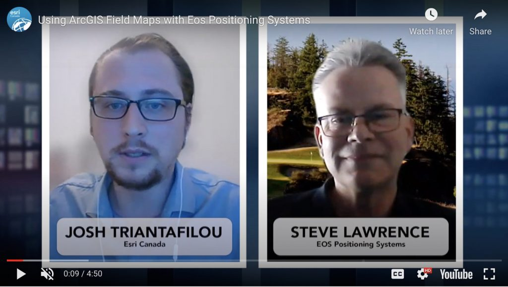 Esri Canada interview with Eos Positioning Systems Steve Lawrence Josh Triantafilou