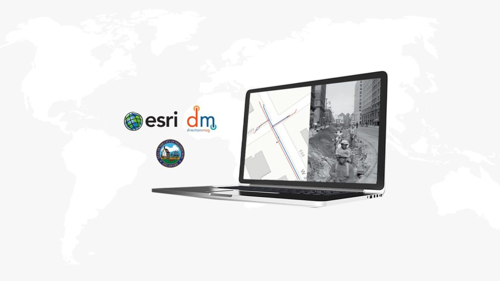 Directions Magazine webinar Eos Positioning Systems, Esri, ArcGIS Field Maps, Jean-Yves Lauture, Yousre Odeh, Jeff Shaner, City of Wilmington